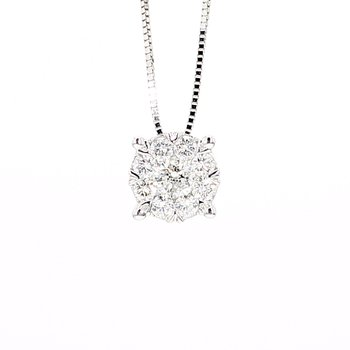 1/3ct Diamond Halo Pendant