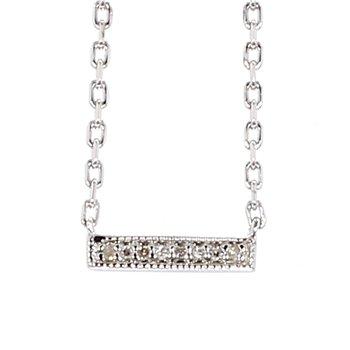 Diamond Petite Bar Necklace 10mm X 2.05MM