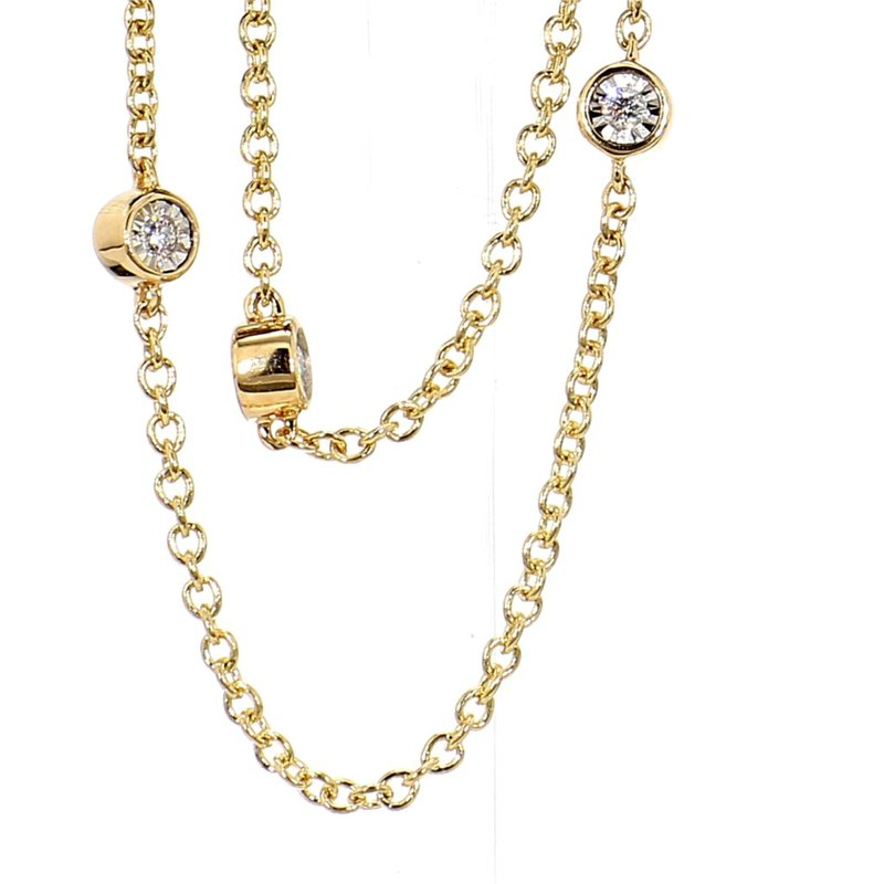 1/4ct Diamond By The Inch Necklace