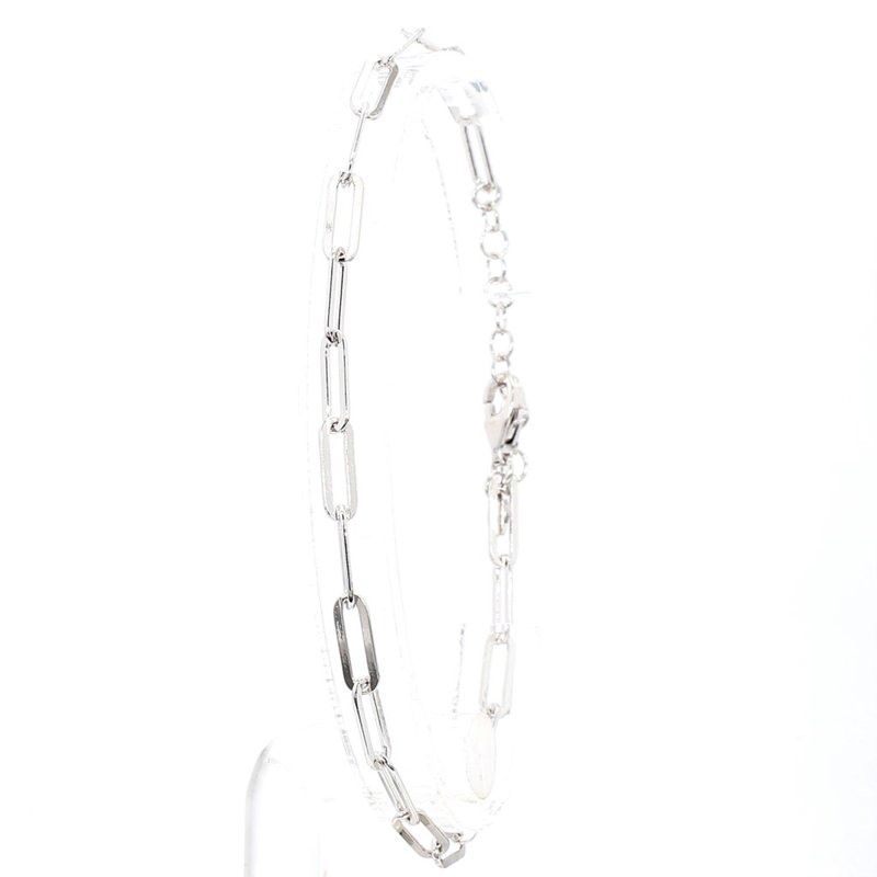 """Paper Clip Bracelet 7-8"""" Adjustable 3.3mm Wide"""
