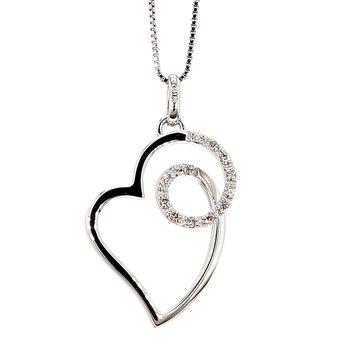 1/10ct Diamond Heart Shape Pendant