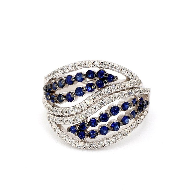 1ct Sapphire & Diamond Ring