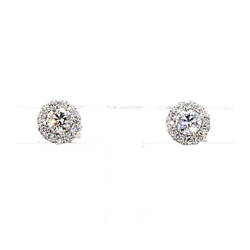 .39ct Diamond Halo Stud Earrings