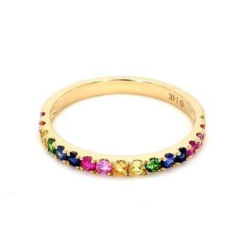 Yellow Gold Rainbow Ring