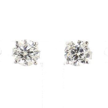 1 1/2 Carat Round Diamond Studs
