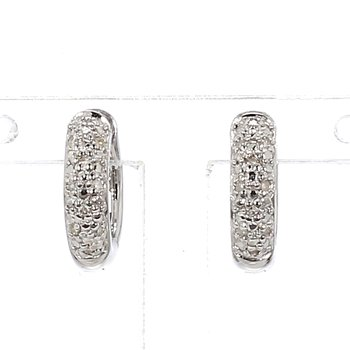 .06ct Pave Diamond Hoop Earring