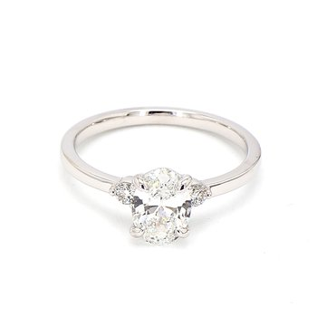1.0ct Diamond 3 Stone Engagement Ring