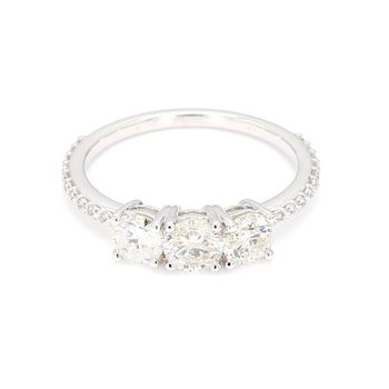 1.25 Carat 3 Stone Diamond Engagement Ring