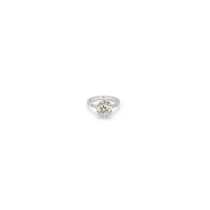 1 1/2ct Diamond Halo Engagement Ring