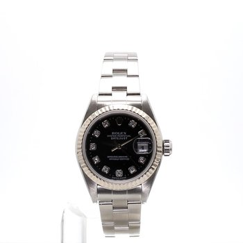 Diamond Dial Stainless Steel Oyster Perpetual Datejust - Ladies Small Size