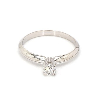 1/3ct Solitaire Diamond Engagement Ring