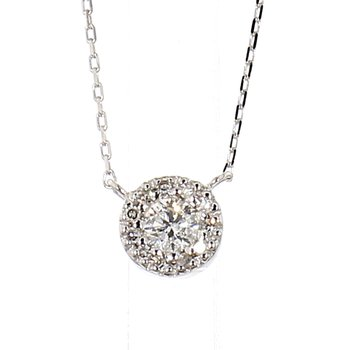 1/7ct Diamond Halo Necklace