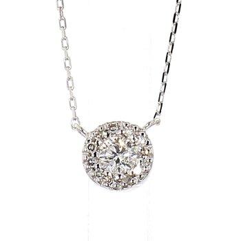 1/7ct Diamond Halo Necklace
