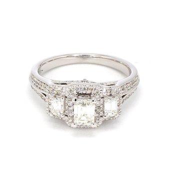 1 1/4ct Diamond Split Shank Engagement Ring