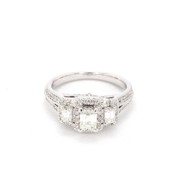 1.25 Carat Diamond 3 Stone Engagement Ring
