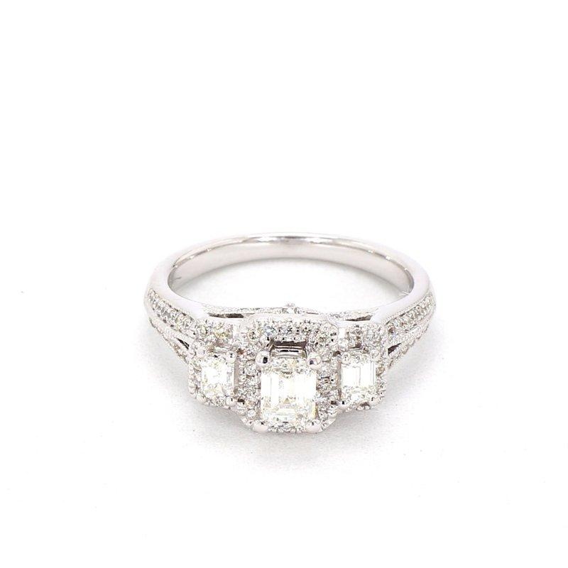 1.25 Carat Diamond 3 Stone Engagement Ring
