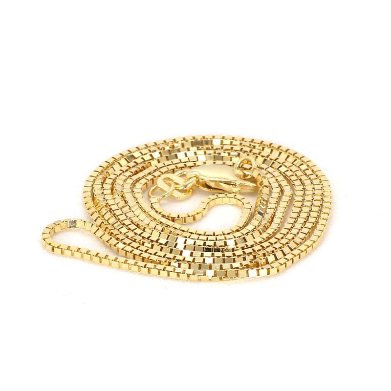 "14 Karat Yellow Gold Box Chain 18"""