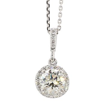 1/2ct Halo Diamond Pendant