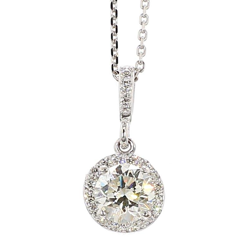 1/2ct Halo Diamond Pendant