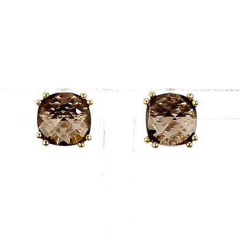 4.0ct Smoky Quartz Stud Earrings