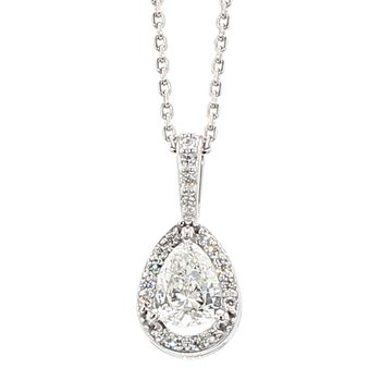 .36 Carat Diamond Halo Pendant