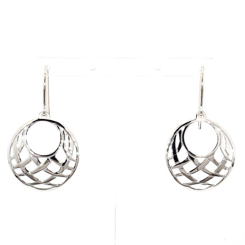 Sterling Silver Small Gypsy Basketweave Earrings