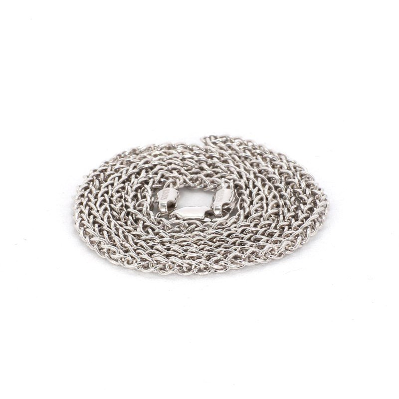 """24"""" 2.25mm Sterling Silver Round Wheat Chain"""