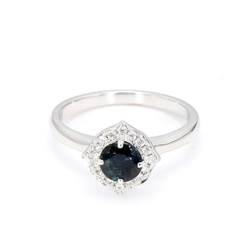 .95 Carat Vintage Inspired Sapphire Ring