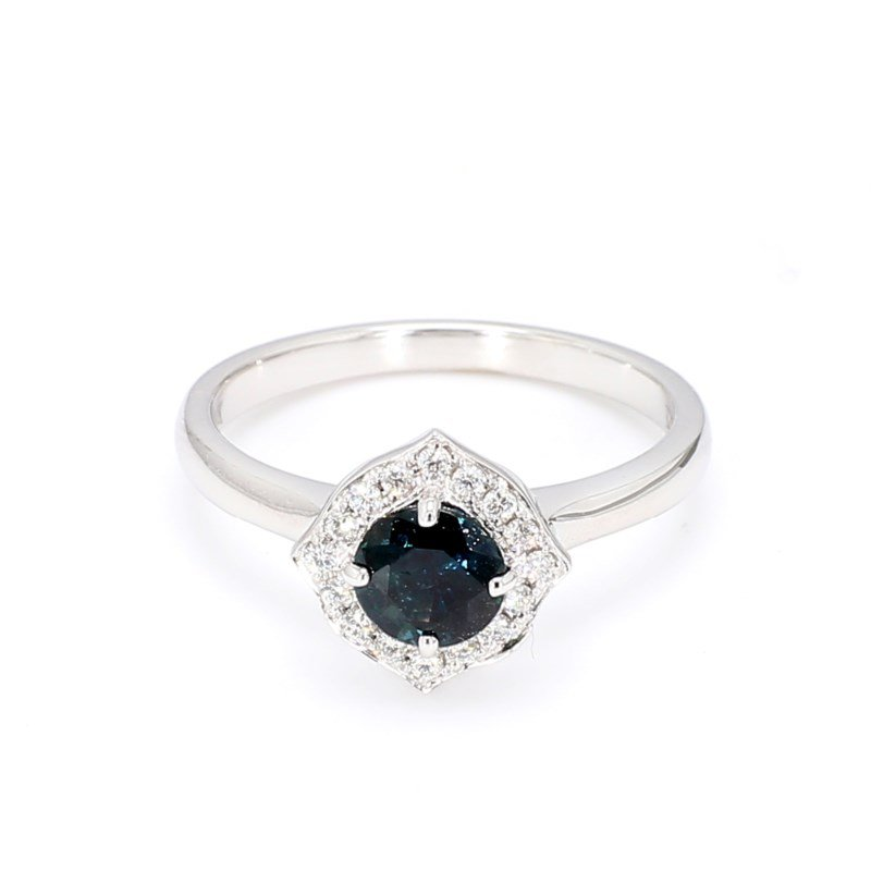 .95 Carat Vintage Inspired Sapphire Ring