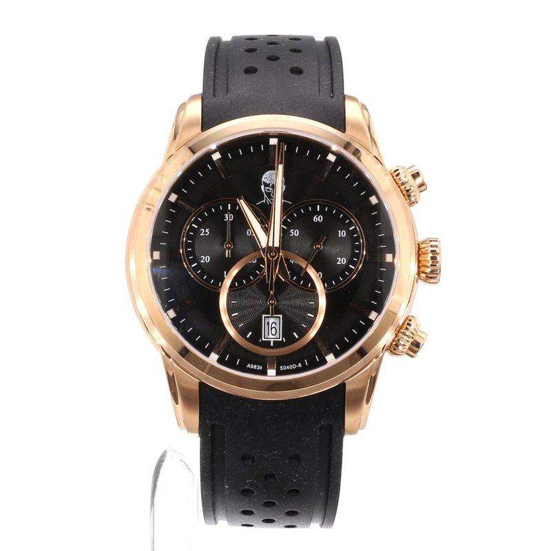 Traders Reality Crypto Currency Rose Gold Chronograph Watch