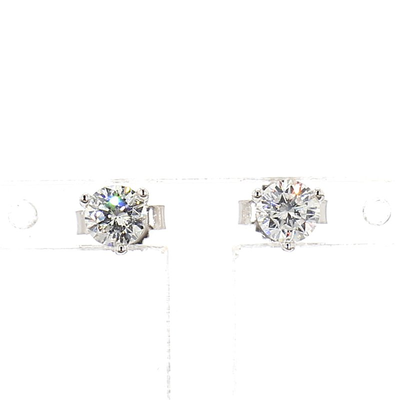1/2ct Diamond Halo Earrings