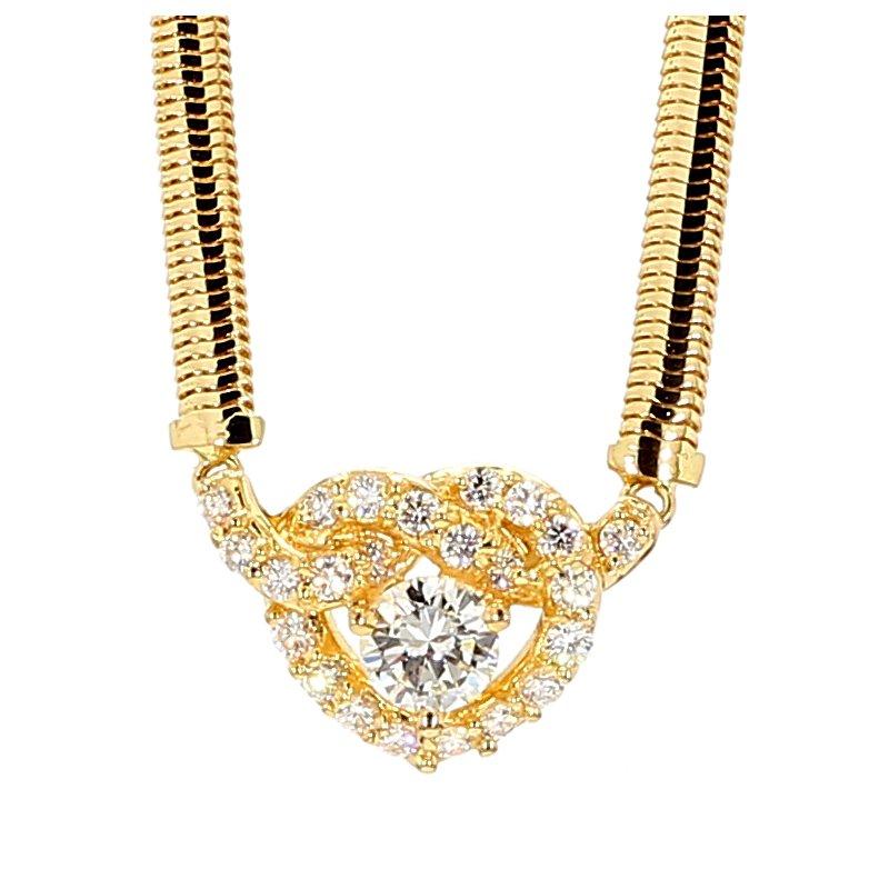 1.0ct Diamond Heart Choker Necklace