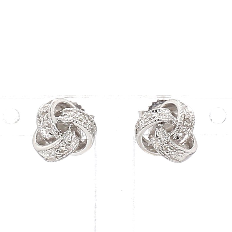 .02ct Diamond Love Knot Earrings