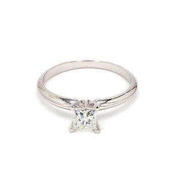 1/2ct Princess Cut Diamond Engagement Ring