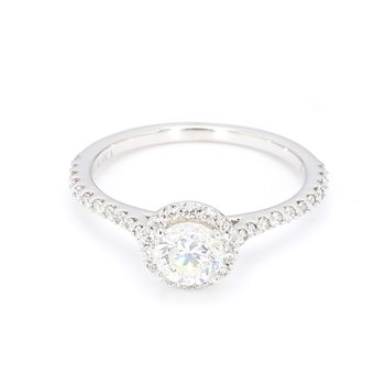 1.08 Carat Diamond Halo Engagement Ring