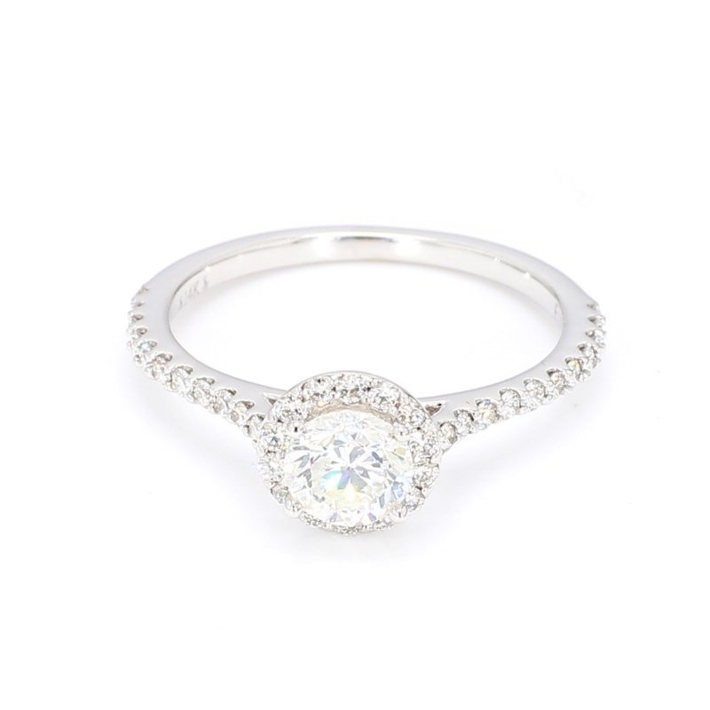 1.08 Carat Diamond Halo Engagement Ring