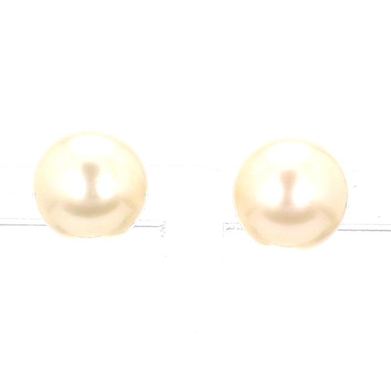 14KW Freshwater 9-9.5MM Pearl Stud Earrings