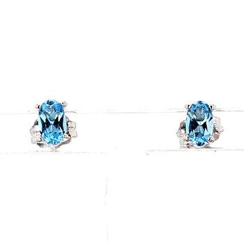1/2ct Blue Topaz Stud Earrings