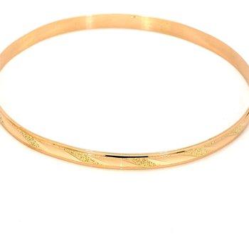 """14KY Gold Bangle Twist Design Bracelet 8"""""""