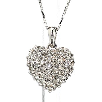 1.00ct Diamond Pavé Heart Pendant