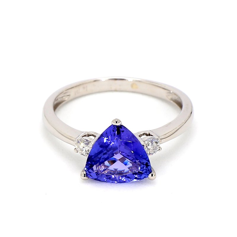 2 1/10ct Tanzanite & Diamond Ring