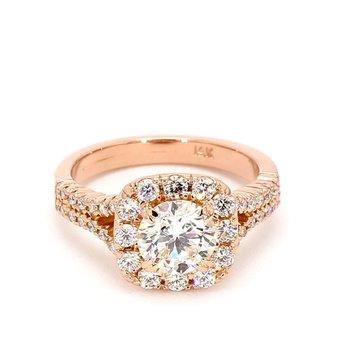 2.0ct Diamond Halo Engagement Ring