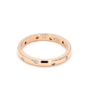 .10 Carat Diamond Ring Consisting Of 10 Diamonds Crafted In 14 Karat Rose Gold