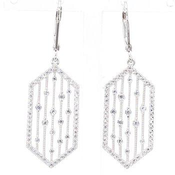Vintage Inspired Jeweled Drop Earrings