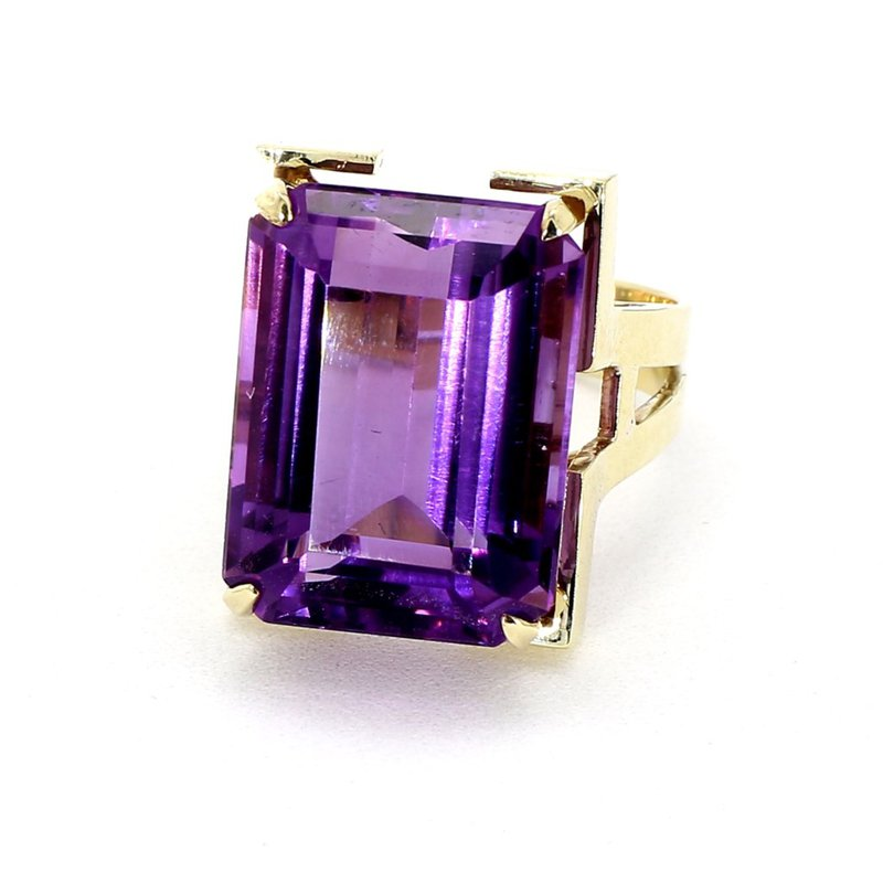 Estimated 15.00CT Amethyst Modern Style Estate Ring