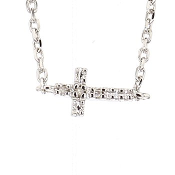 .02ct Diamond sideways Cross Bracelet