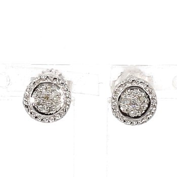 .05ct. Diamond Halo Earrings