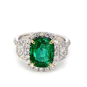 4 1/4ct Emerald & Diamond Ring