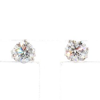 3/4 Carat Diamond Stud Earrings