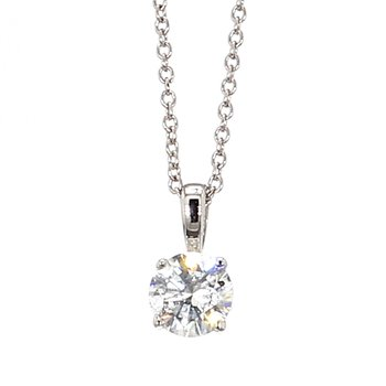"3/4ct Diamond Solitaire Pendant 18""x 5.68mm"